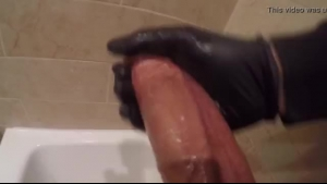 Good looking, bald woman with a beautiful smile is sucking a throbbing cock after getting doublefucked