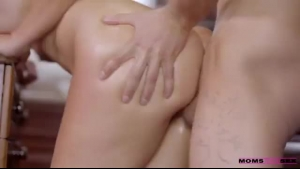 Luscious maid fucked in the kitchen by employer