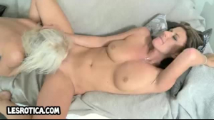Platinum blonde babe, Christie Stevens is getting her tight pussy destroyed by her new lover