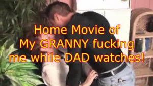 Naughty granny was caught fucking her naive son, after she sucked her partners' hard dicks