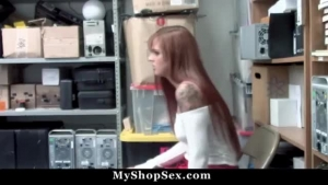 Sienna Day stunning redhead sub was caught shoplifting